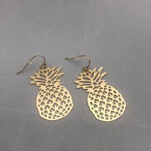 Metal pineapple earrings